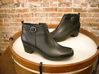 Clarks Black Leather Malia Hawthorn Buckle Detail Ankle Boots NEW
