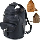 Womens Leather Backpack Wallet Sling Shoulder Bag Handbag 3 in 1 Convertible New