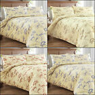 BOTANICAL FLORAL DUVET/QUILT BEDDING WITH PILLOWCASES - SINGLE, DOUBLE, KING