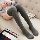 Women Warm Cotton Thigh High STOCKINGS Knit Over Knee Lace School Girls Socks
