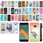 For HTC 10 One M10 PATTERN HARD Back Case Phone Cover + Pen