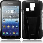 T-Stand Black Combo Case Cover For KYOCERA HYDRO ICON C6730 C6530 Hydro Life