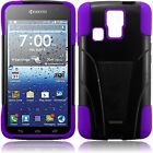 T-Stand BlackPurple Combo Case For KYOCERA HYDRO ICON C6730 C6530 Hydro Life
