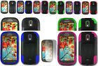 Screen Protector+2Layer T-Stand Case For Samsung Galaxy Light SGH-T399 Phone