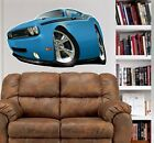 2010 Challenger R/T Muscle Car WALL GRAPHIC DECAL MAN CAVE  ROOM 6744