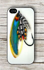 SALMON FLY RIVER FISHING OUTDOOR SPORT #4 CASE FOR iPHONE 4 5 5C 6 -ysk8Z