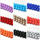 New fashion charms 8mm multicolor baking paint glass round loose beads jewelry