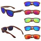 Bamboo Sunglasses Wooden Wood Mens Womens Retro Mirror Summer Glasses Vintage