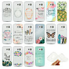 Jesus Verse Pattern Ultra-Thin Gel Clear Cover Case For Samsung S6 Edge S7 Edge