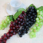 High Bunch Lifelike Artificial Fresh Grapes Plastic Fake Fruit Food Home Decor