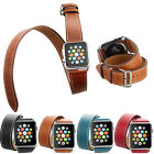 38mm/42mm Double Tour Genuine Leather Strap Watch Band for Apple Watch iWatch