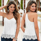 Vogue Women Lace Loose Casual Sleeveless Vest Shirt Tank Tops Blouse T-shirt