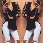 Fashion Summer Womens Loose Casual Long Sleeve Hollow Shirt Blouse Sexy Tee Tops