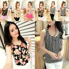 New Fashion Women's Sleeveless Floral Vest Tank Chiffon Tops Blouse T-shirt