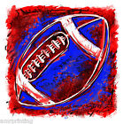 Red and Blue Grunge Football Design T-Shirt, fb20023