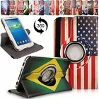 For Samsung Galaxy Tab 3 7 Inch P3200 Leather 360 Rotating Flip Stand Case Cover