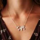 Fashion Women's World Map Choker Statement Abstract Charm Pendant Necklace NEW