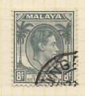 STRAITS SETTLEMENTS;   1937 early GVI Die I fine used issue 8c. value
