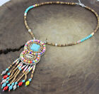 Fashion Jewelry Multi-Color Crystal Beads coconut shell Long Necklaces Pendants