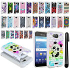 For Kyocera Hydro Wave C6740/ C6745 Studded Bling HYBRID Case Phone Cover + Pen