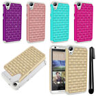 For HTC Desire 626 626S Luxury Shockproof HYBRID Bling Case Phone Cover + Pen