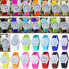 Unisex Fashion Jelly Quartz Silicon Wrist Watch Bracelet Women Student HOT