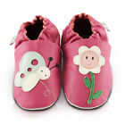 Smiley Flower Soft Leather Baby Shoes | Toddler Slipper Girls | Size 0 - 3 Years