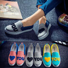 Women Low Top Shoes Sneakers Breathable Rubber Flats Casual Canvas Running Shoes