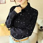 2013 Korean Styl Clothes Fashion Long Sleeve Cotton Blouse Shirt Women