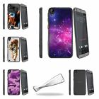 For HTC Desire 530 | Desire 630 Slim Fitted Flexible Clear TPU Case Galaxy Stars