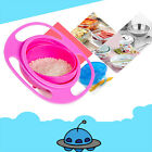 1 Pc Baby Bowl Toy Children Kid 360 Rotate Spill Proof Dish Lid Cup Pod Gift