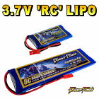 3.7V 50mAh - 4000mAh 1S RC LiPo Battery up to 50C All Sizes + Custom Connector