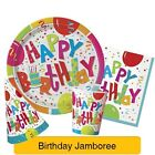 JAMBOREE BIRTHDAY Party Tableware & Decorations (Balloon/Plates/Napkins/Hats)