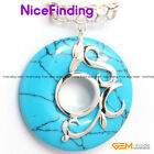 Charms Silver Plated Pendant + Free Chain Ring Beads Fashion Women Jewelry Gift