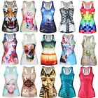 Women Summer Digital Print Gothic Punk T-Shirt Tank Top Vest Shirts Arrival