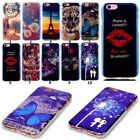 Pattern Blu-ray Luxury Rubber Soft TPU Back Case Cover Skin For Apple iPhone