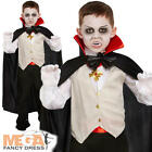 Classic Vampire + Cape Boys Halloween Fancy Dress Kids Dracula Childs Costume
