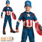 Boys Captain America Age Of Ultron Fancy Dress Childs Avengers Marvel Costume