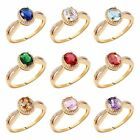 MODOU New Arrival Oval Cut Sapphire Charms Gemstone Rings Gift For Women Sz O-T