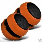 3.5mm Mini Capsule Travel Rechargeable Portable Speaker - Pack of 2 Speakers