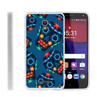 For Alcatel POP 4+ Slim Fitted Flexible TPU Case Drawn Designs