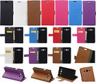 Litchi Leather Wallet Card Holder Case Stand Cover For LG Sony Smart Phone KSN