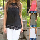 Stylish Women Summer Lace Vest Top Sleeveless Casual Tank Blouse Tops T-Shirt