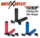 Fly Racing Clamp On Atv Hand Grips Handlebar Thumb Throttle Quad Grip Lock BMX image