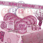 ALTER 13/13TH GEBURTSTAG ROSA GLANZ PARTY REIHE Ballon/Dekoration/Banner/