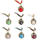 Bohemia Style Necklace Rope Turquoise Stone Pendant Necklaces For Women NEW
