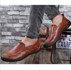Casual Mens Loafers Driving Business Formal Moccasins England Stitching Shoes z3