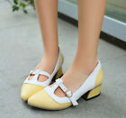 US4-11/EUR34-43 womens Mary Janes low heels pumps cut out pointed toe OL shoes d