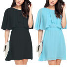 Elegant Women Ladies Summer Casual Sexy Chiffon Party Dress Plus Size UK 6-26