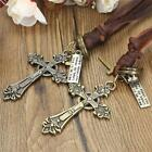New Vintage Celtic Cross Pendant Adjustable Brown Leather Cord Necklace Chain